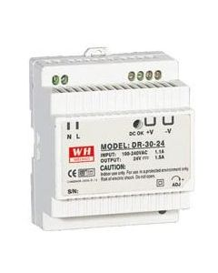 DR30-24 DIN Rail +24vdc 30W Power Supply