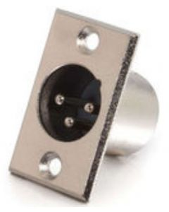 XLR Male Panel-Mount Connector